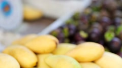 Fresh mangoes for sale Stock Footage