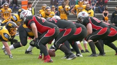 Slow Motion Sport American Football Rugby Game players Tackling in field - stock footage