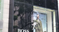 Hugo Boss store. Stock Footage