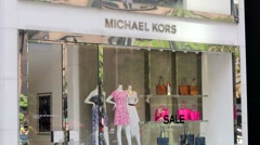 Michael Kors store. - stock footage