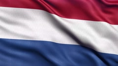 4K Flag of the Netherlands seamless loop Ultra-HD Stock Footage