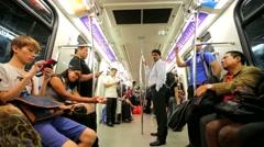 Driverless LRT train Stock Footage