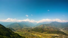4k timelapse of Himalayan view Stock Footage