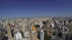 Aerial view of buildings  in the city of Sao Paulo, Brazil. 4K. Copan Stock Footage