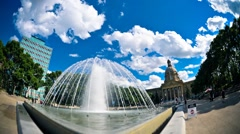 Edmonton Legislature Fountain Stock Footage