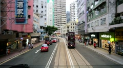 City view from the tram. - stock footage