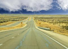 endless country highway. - stock photo