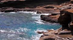 The Pacific Ocean at the Koko Head Lookout, on Oahu Island, Hawaii Stock Footage