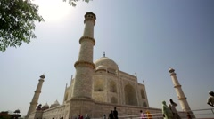 People visit the Taj Mahal. - stock footage