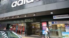 Adidas store Stock Footage