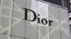 Dior outlet. - stock footage