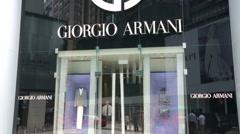 Giorgio Armani store. - stock footage