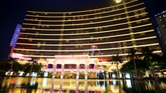The Wynn Hotel and casino Stock Footage