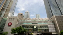 Apple Store in the city center. - stock footage