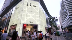 Dior store. Stock Footage