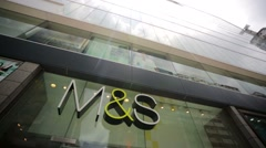 Marks and Spencer store Stock Footage