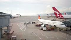 Hong Kong International Airport Stock Footage