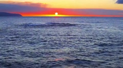 Sunset at Rocky Point on the North Shore on Oahu, Hawaii Stock Footage