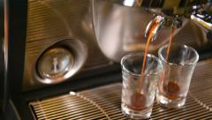 Coffee machine preparing cup of coffee Stock Footage