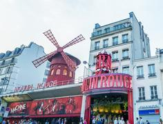 Paris, france - july 22: the moulin rouge during the day, on july 22, 2014 in Stock Photos