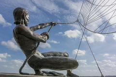 the mariners sculpture - stock photo