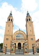 Sibiu sfanta treime church Stock Photos
