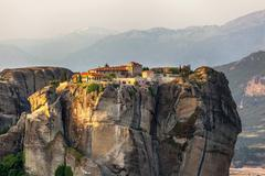 meteora monasteries, greece - stock photo