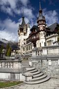 Peles Castle, Romania, Transylvania Stock Photos