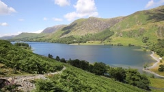Buttermere Lake District Cumbria England uk surrounded by fells Stock Footage