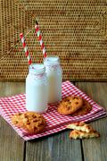 Stock Photo of Cookies & milk