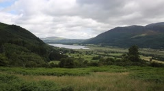 Bassenthwaite Lake District Allerdale near Keswick Cumbria England uk Stock Footage