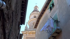 Glimpse of Menton, French Riviera Stock Footage