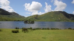 Crummock Water Lake District England UK between Buttermere and Loweswater Stock Footage
