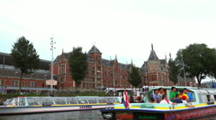 Central Station Amsterdam Stock Footage