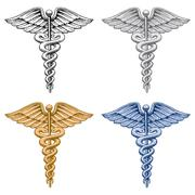 Caduceus Medical Symbol - stock illustration