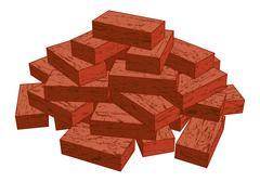 Bricks - stock illustration