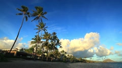 Waialae Beach Park, Honolulu, Oahu, Hawaii Stock Footage