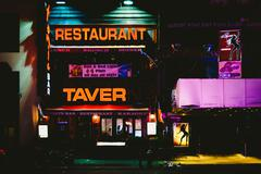 Nightlife on 7th avenue at night, at times square, midtown manhattan, new yor Kuvituskuvat