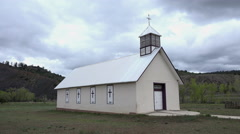 Country church in Rocky Mountain Colorado valley 4K 207 Stock Footage