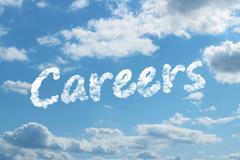 careers word on cloud - stock illustration