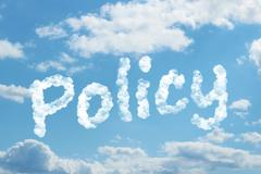 Policy word on cloud Stock Illustration