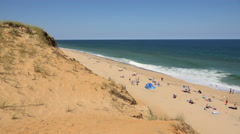 Wellfleet Beach, Cape Cod - stock footage