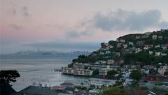 Sausalito-San Francisco Day to Night Stock Footage