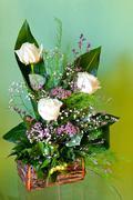 White rose arrangement Stock Photos