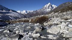 Beautiful mountain view of everest region,  nepal Stock Photos