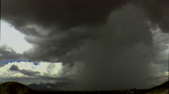 Time Lapse Monsoon Rain Shaft Tucson City Light Time Lapse Stock Footage