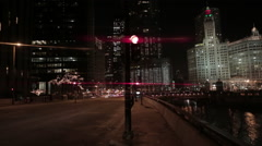 Stoplight in chicago Stock Footage