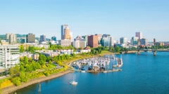 Portland Downtown Citycenter Waterfront 705 - stock footage