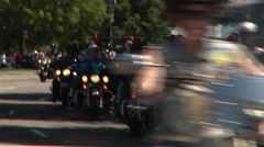 Rolling Thunder's Memorial Day weekend Washington DC ride Stock Footage