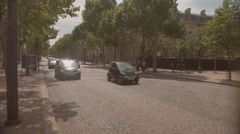 Taxi drives by the triumphal Arch Stock Footage